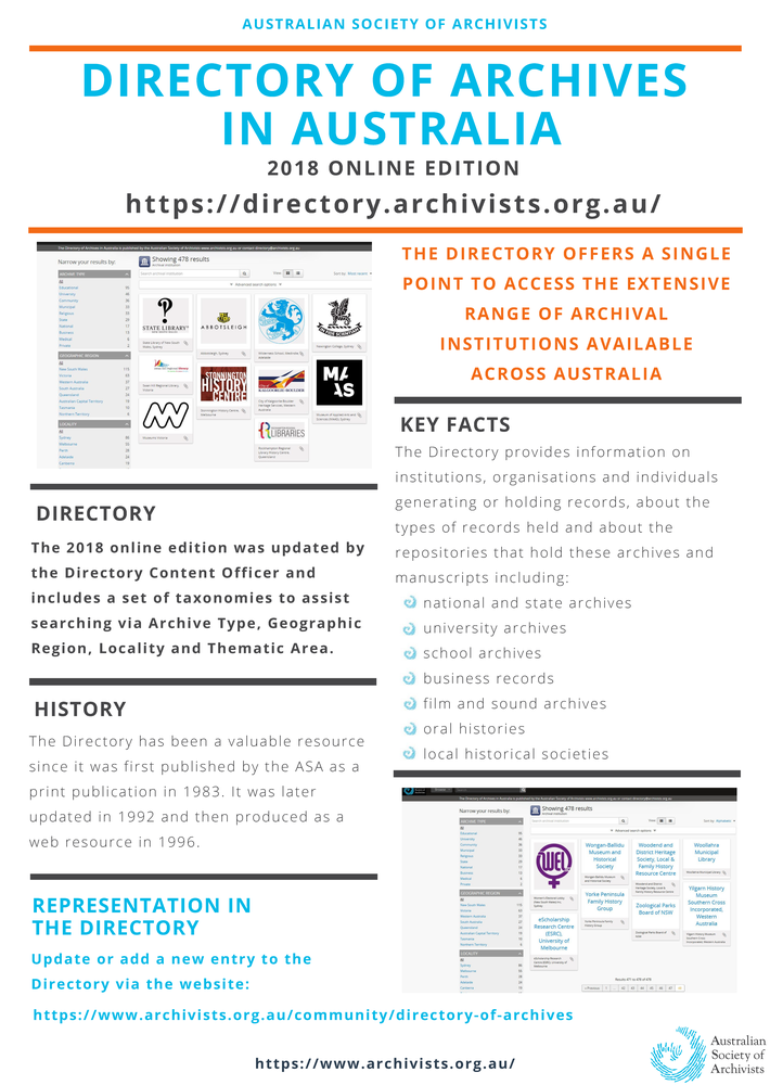 Directory of Archives - Australian Society of Archivists Inc